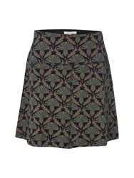 White Stuff Jenny Jersey Jacquard Skirt Blue