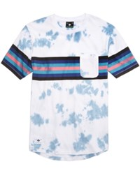 Lrg Men's Sky High Tie Dye Print T Shirt Patriot Blue