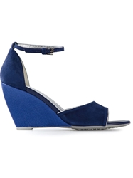 Hogan Wedge Sandals Blue