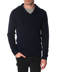 Menlook Label Steph Navy Wool Blend Hoody