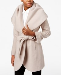 T Tahari Wool Blend Marla Wrap Coat Macrame