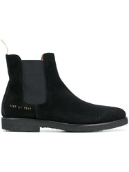 Common Projects Chamois Leather Chelsea Boots Black