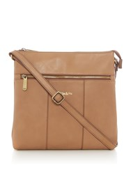Ollie And Nic Casey Large Crossbody Bag Tan