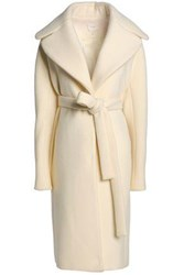 Delpozo Brushed Wool And Mohair Blend Coat Ivory