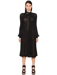 Antonio Berardi Pleated Crepe Jersey Midi Dress