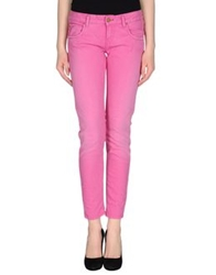 Maison Clochard Denim Pants Fuchsia