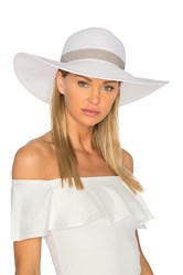 L Space Sunday Funday Beach Hat White