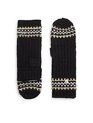 Cole Haan Fair Isle Convertible Mittens Black Multi