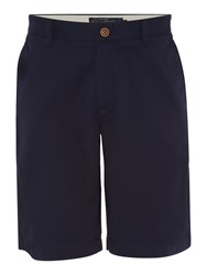 Howick Men's Marlow Lightweight Chino Flat Front Shorts Navy