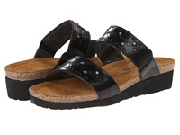Naot Footwear Susan Black Madras Leather Glass Brown Women's Shoes