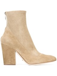 Sergio Rossi Zipped Boots Nude And Neutrals