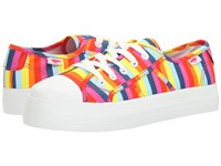 Rocket Dog Magic Pink Multi Spicy Stripe Women's Lace Up Casual Shoes