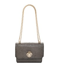 Elie Saab Small Metallic Shoulder Bag Female Grey