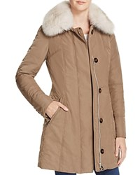 Peuterey Metro Fox Fur Down Coat 100 Bloomingdale's Exclusive Grey Gold