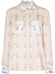 Burberry Alexa Dancing Unicorn Print Shirt Pink
