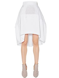 Antonio Berardi Double Poplin And Eyelet Lace Skirt