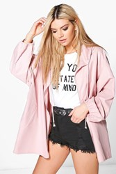 Boohoo Hooded Lightweight Parka Rose