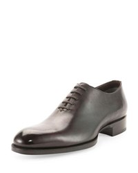 Tom Ford Edward One Piece Lace Up Tt Leather Shoe Black