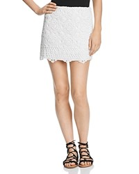 Bailey 44 Sesame Crochet Mini Skirt Chalk