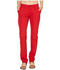 Fjall Raven Abisko Stretch Trousers Red Women's Casual Pants