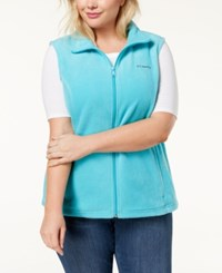 Columbia Plus Size Benton Springs Fleece Vest Geyser