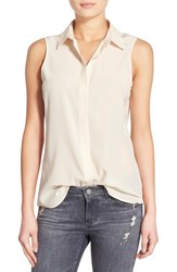 Ag Jeans Women's Ag 'Rae' Sleeveless Silk Shirt Pink Porcelain