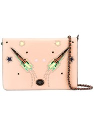 Coach Rocket Embroidered Crossbody Bag Nude Neutrals