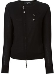 Dsquared2 Zip Accent Pullover Black