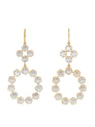 Marie Helene De Taillac Rainbow Moonstone And Yellow Gold Earrings