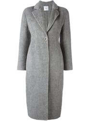 Agnona Single Button Coat Grey