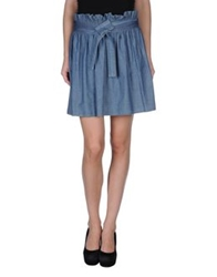 Amy Gee Mini Skirts Blue