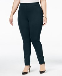 Styleandco. Style Co. Plus Size Seamed Leggings Only At Macy's Industrial Blue