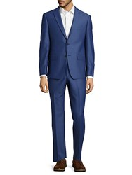 Michael Kors Classic Fit Solid Wool Suit Blue