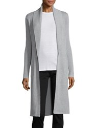 Ag Jeans Blaine Cotton And Cashmere Rib Knit Cardigan Heather Grey