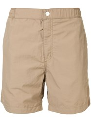 Venroy Snaplock Swim Shorts Brown