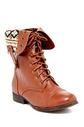 Elegant Footwear Sharpery Fold Over Boot Brown