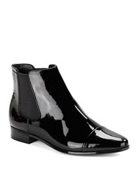 Calvin Klein Finilla Faux Patent Leather Booties Black