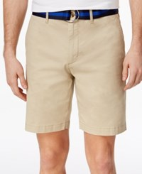 Club Room Men's Slim Fit Stretch Shorts Only At Macy's Serene Beige