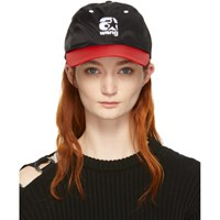 Alexander Wang Red And Black Nylon Baseball Cap
