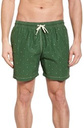Barbour Flag Swim Trunks Racing Green