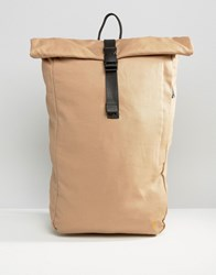 Farah Canvas Rolltop Backpack Stone Stone Beige