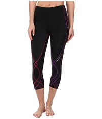 Cw X Stabilyx 3 4 Tight Black Purple Gradation Women's Workout