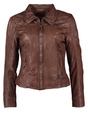 Gipsy Lonny Lades Leather Jacket Taupe