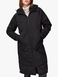 Selected Femme Maddy Quilted Coat Black