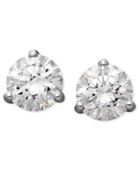 Arabella 14K White Gold Earrings Swarovski Zirconia Round Stud Earrings 4 1 4 Ct. T.W.