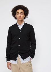 Comme Des Garcons Small Black Heart Sleeve Cardigan