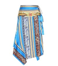 Etro Printed Silk Skirt Multicoloured