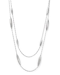 Roberto Coin Sterling Silver Diamond Cut Double Strand Necklace 31