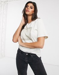 The North Face Boyfriend Simple Dome T Shirt In White