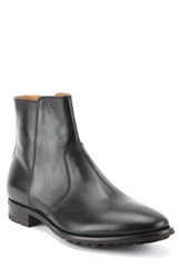Gordon Rush Roberts Zip Boot Black Leather